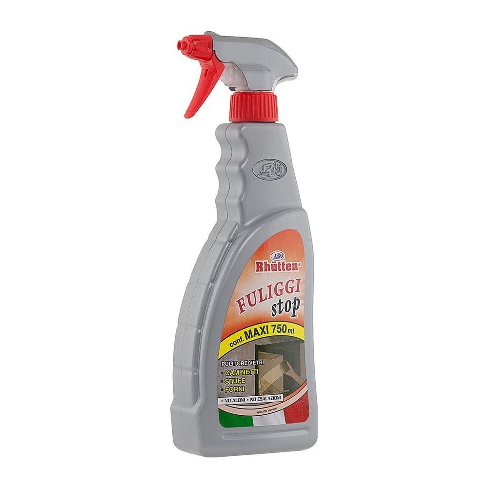 Fuliggi stop sray 750 ML pulitore vetri camini - stufe e forni Rhutten