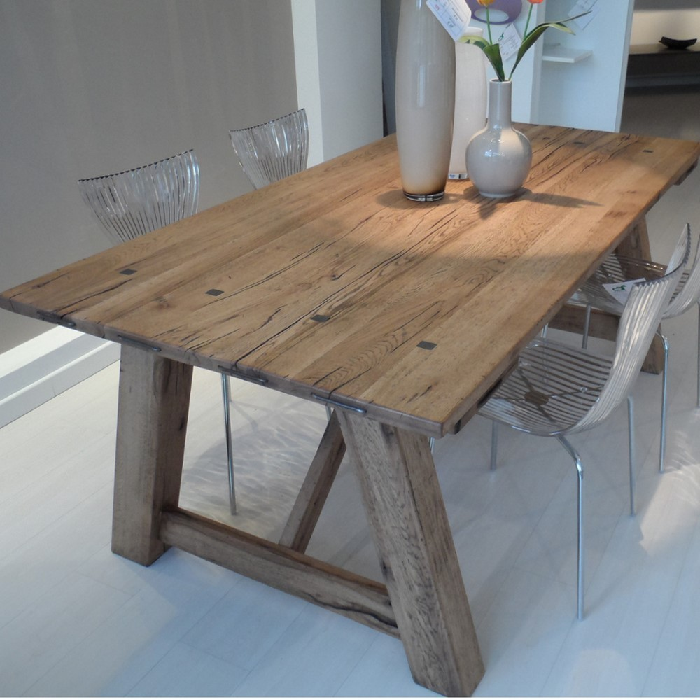 Tavolo fratino eclettica holland naturale 110 x 300 for Porte in legno grezzo