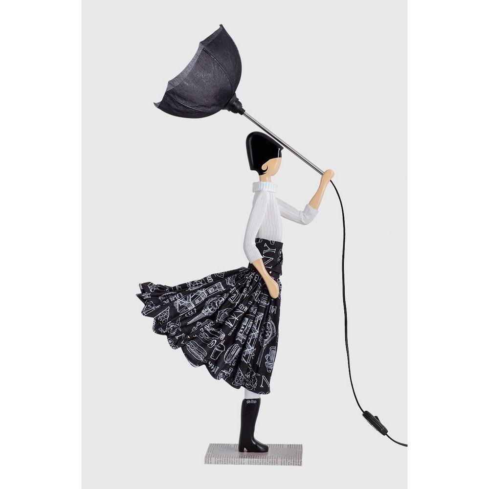 Skitso - Aura Lampada Design Donna con Paralume Serie Limitata Skitso